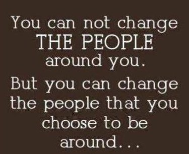 People you are around
